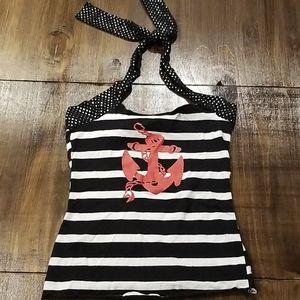 Striped Sailor Halter Top